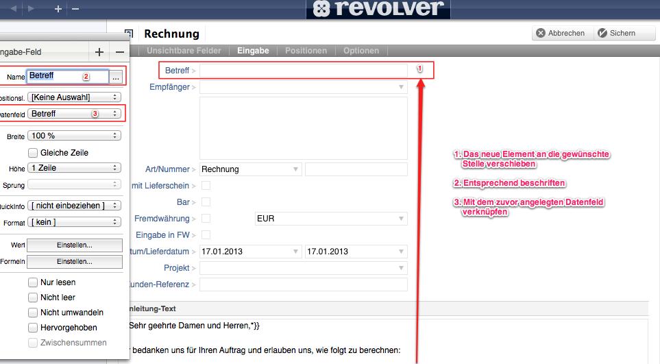 Vorlagen: Bezeichnung, Standardtexte, ... - Revolver Forum und ...